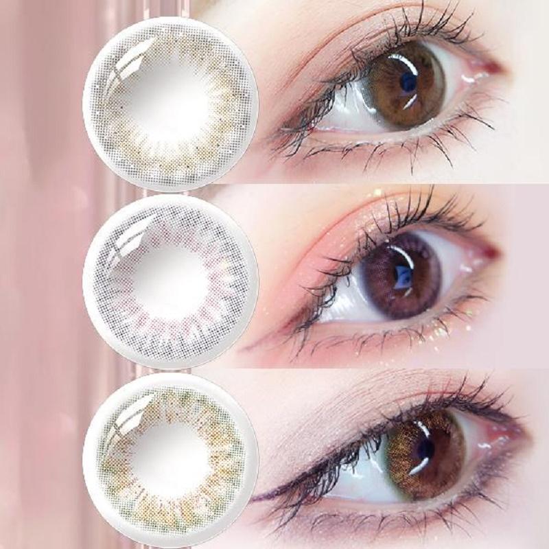 maquia美目希【PONY同款】美瞳月抛2片彩色隐形眼镜自然混血甜美