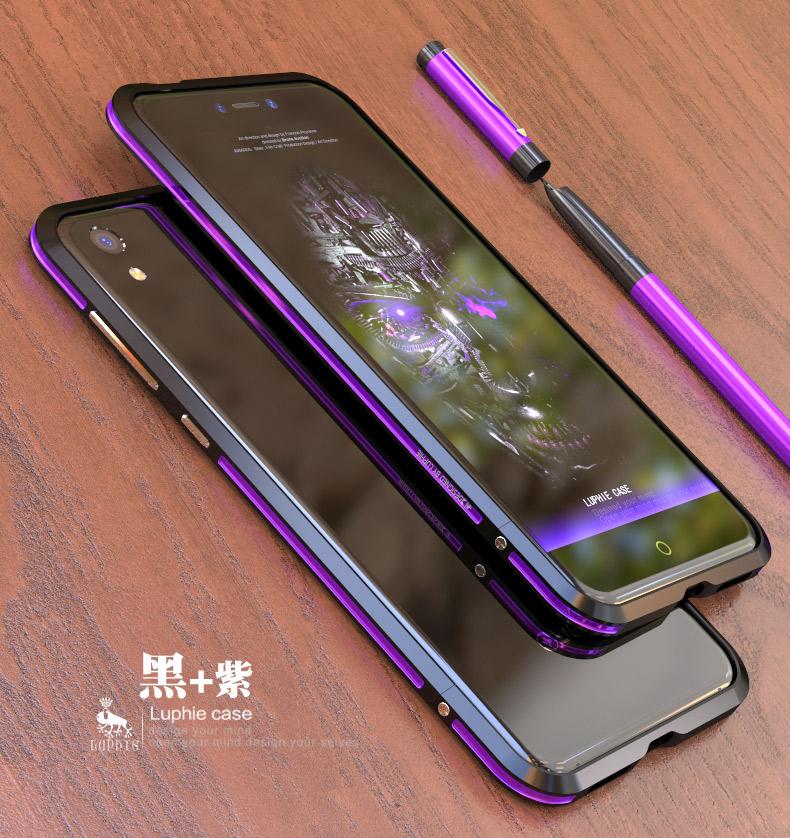 Luphie Bicolor Blade Sword Slim Light Aluminum Bumper Metal Shell Case for QIKU 360 N5S