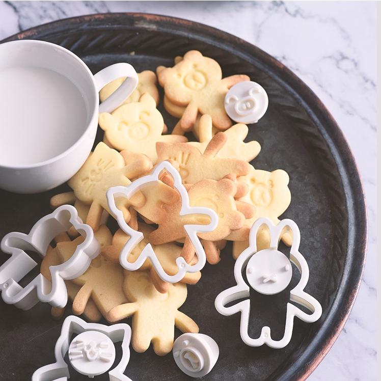 展艺圣诞创意模具翻糖坚果兔子熊糖霜猪猫饼干抱抱熊套装饼干动物