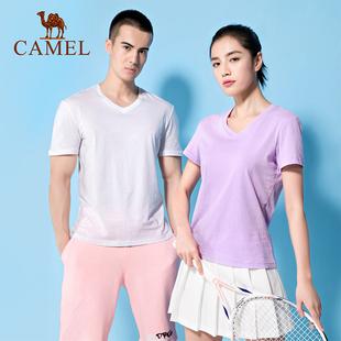 【超低价格】骆驼新款纯棉纯色休闲T恤