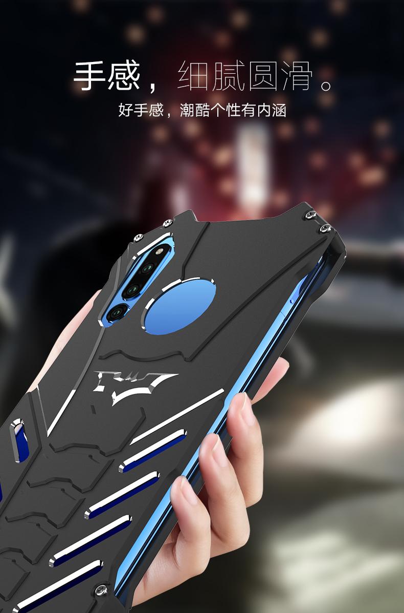 R-Just Batman Shockproof Aluminum Shell Metal Case with Custom Batarang Stent for Huawei Honor Magic 2