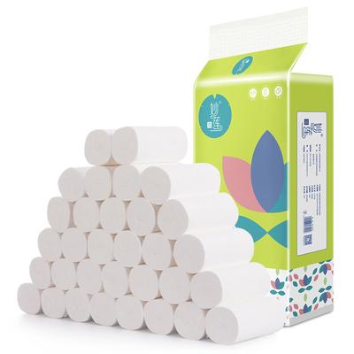 妙莲40卷卫生纸家用妇婴用纸批发实惠装卷纸巾无芯厕所卷筒纸手纸