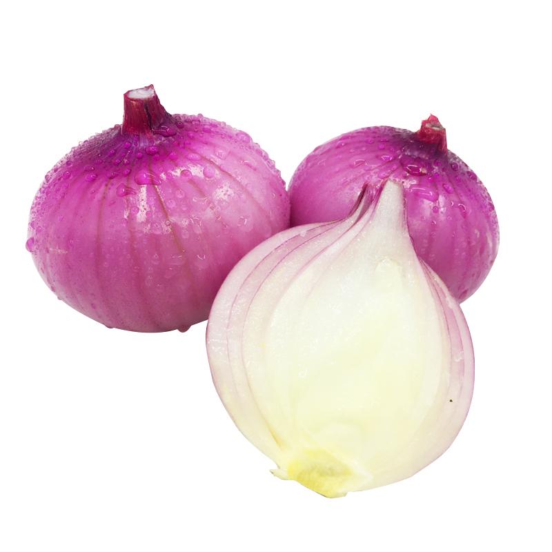 新鲜洋葱农家自种洋葱头红皮紫皮圆葱蔬菜西餐烧烤食材5斤装包邮[优惠价3元卖出128件]