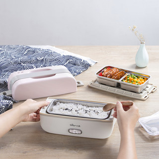 Little bear electric lunch box can be plugged in electric heating insulation double layer with rice artifact cooking rice cooker small office worker