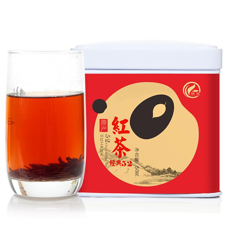 川红红茶茶叶川红工夫红茶特级浓香型四川特产经典茶叶散装伴手礼