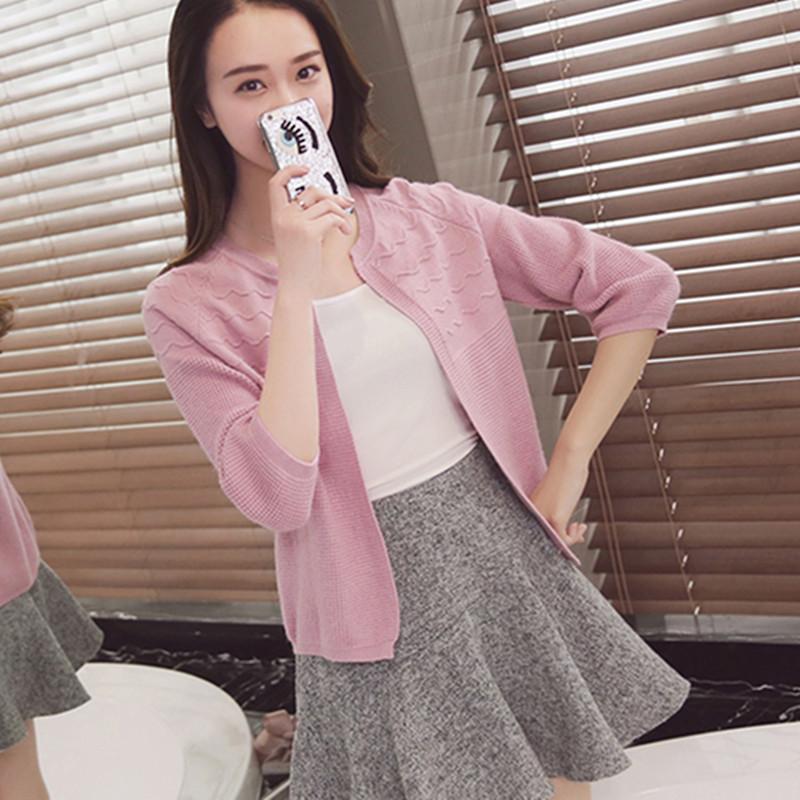开衫毛衣女春装短款薄夏针织衫春秋外搭2016小披肩外套防晒空调衫