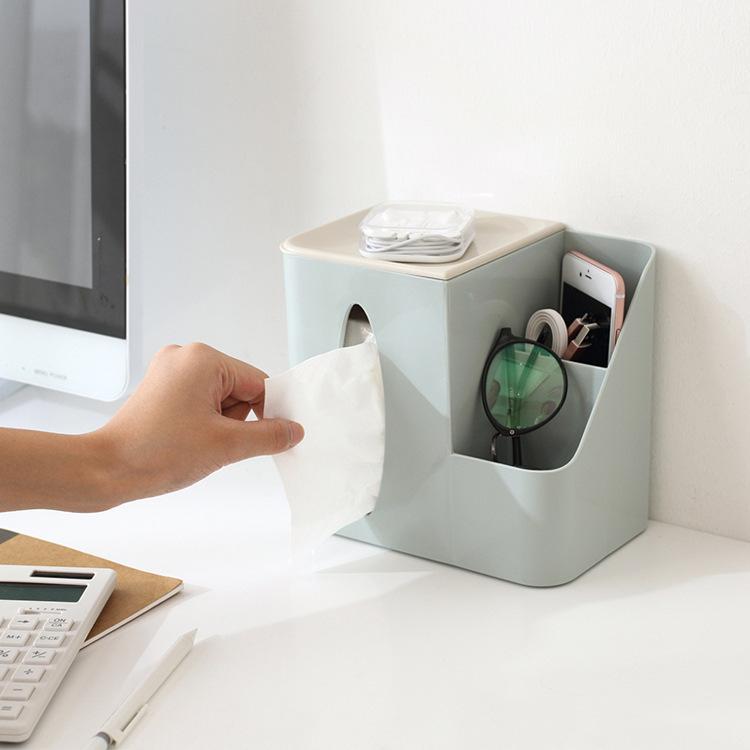 办公室客厅盒抽纸巾带家用遥控器v客厅笔筒多功能茶几桌面盒子纸盒