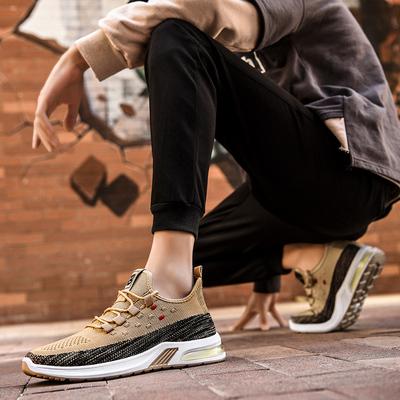 男鞋子2020秋季新款防臭透气休闲运动鞋男士跑步潮鞋百搭网面板鞋