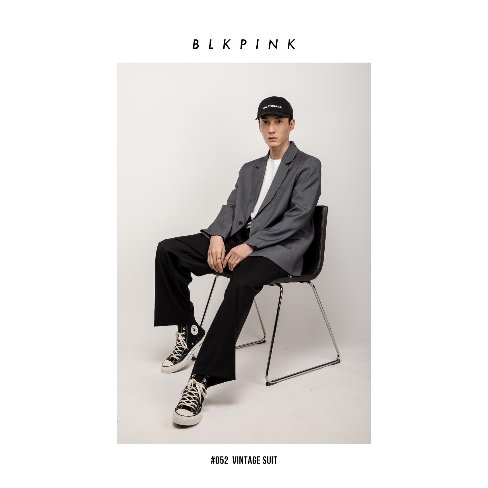 BLKPINK # 052 Áo khoác mới hợp thời trang giản dị lỏng lẻo retro VINTAGE SUIT - Áo khoác đôi