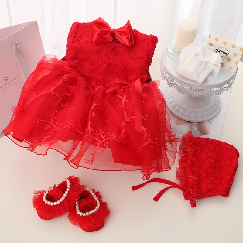 2019 mới mùa hè bé tặng hộp set heo bé váy công chúa váy quà trăng tròn bé váy bé gái - Bộ quà tặng em bé