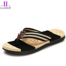 2018 new summer tide flip flops couple slippers men's shoes