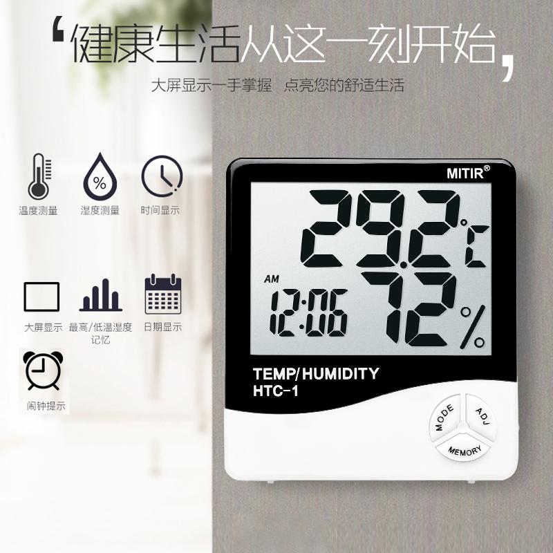 帶鬧鐘功能:mitir 電子溫濕度計