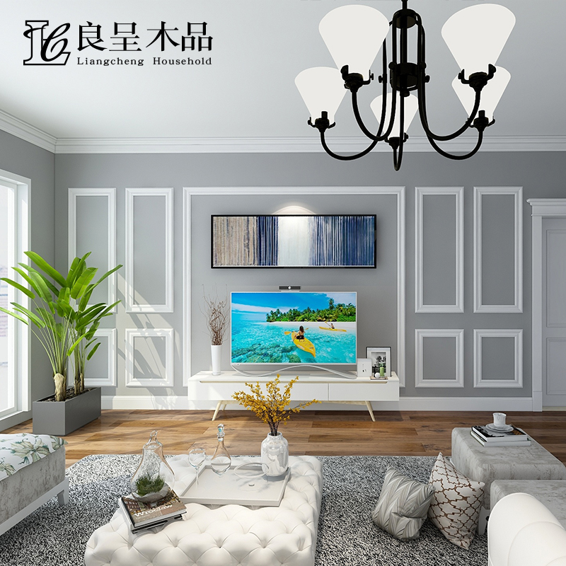 Good Tv Background Wall Line Frame Decorative Line Wall