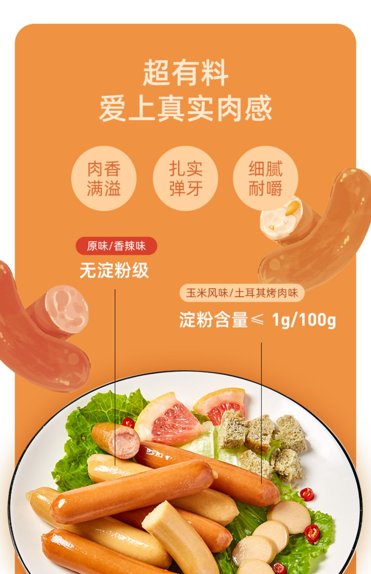 累计热卖55万+!薄荷健康低脂鸡胸肉肠12根3