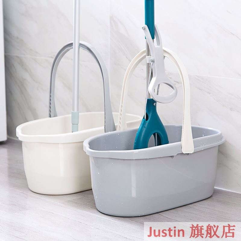 Thickened tow bucket wash bucket carrying plastic bucket rectangular household bucket can stack tow bucket cleaning bucket.