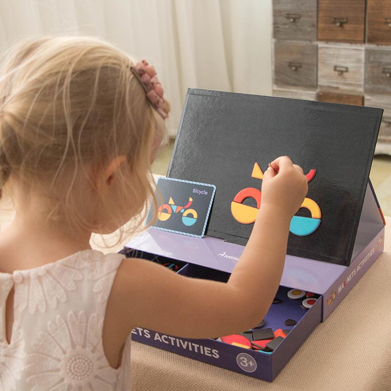MiDeer 弥鹿 百变创意磁铁游戏盒 早教益智玩具 聚划算+天猫优惠券折后¥58包邮(¥68-10)4款可选