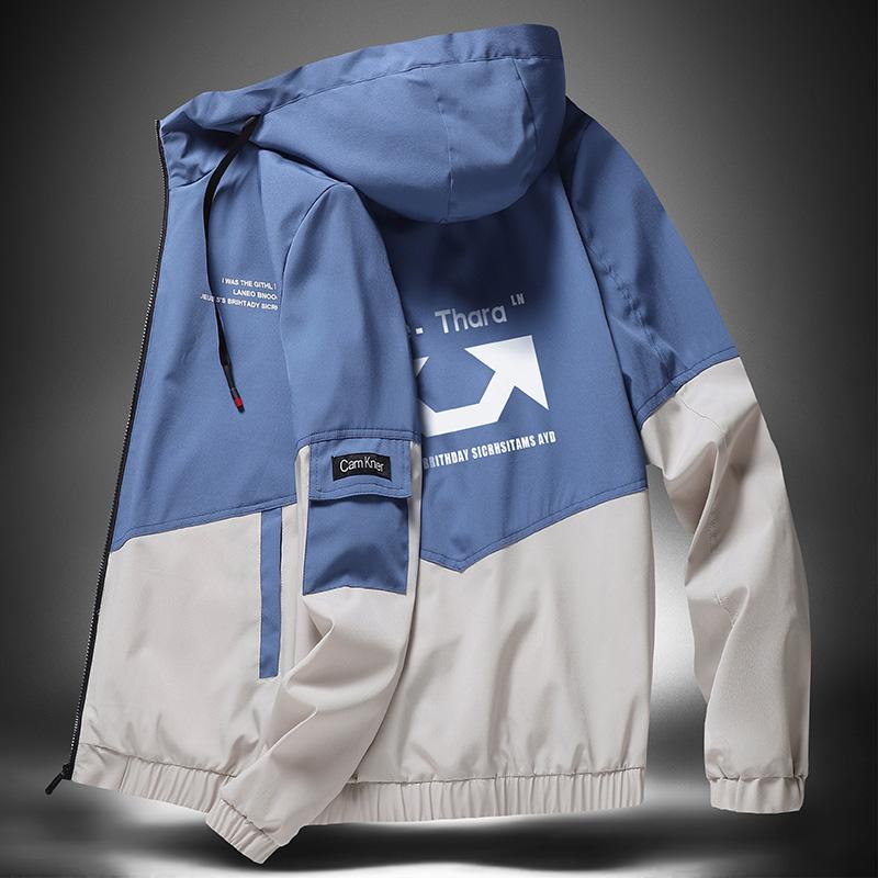 秋季新款夹克男2020连帽棒球服韩版青少年男士外套潮流学生上衣服