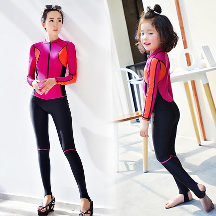 Ребенок купальный костюм девушка сиамский солнцезащитный крем мальчиков ребенок корея дайвинг одежда купальный костюм женщина трещина быстросохнущие отцовство плавание наряд