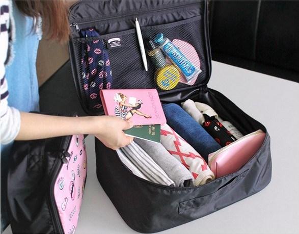 短途出门旅行包女轻便可爱韩版拉杆旅游出差男小手提包行李收纳袋