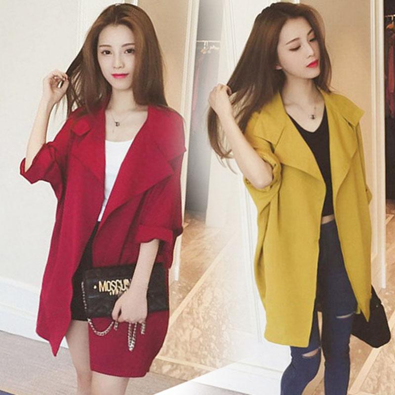春秋季新款版风衣女装中长款薄短款小个子外衣外套大衣宽松