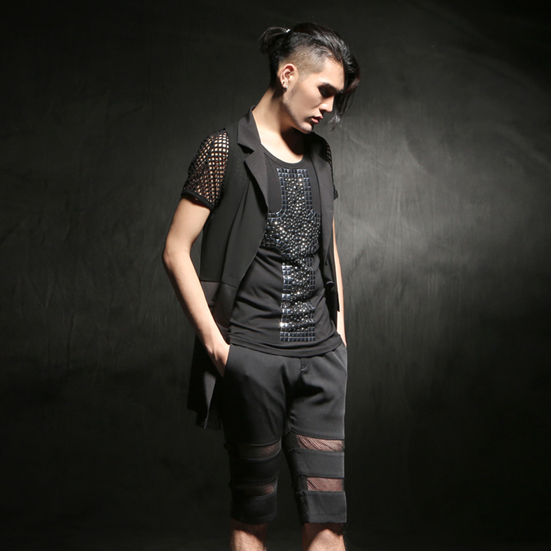 Summer Men's New Chiffon Vest ...