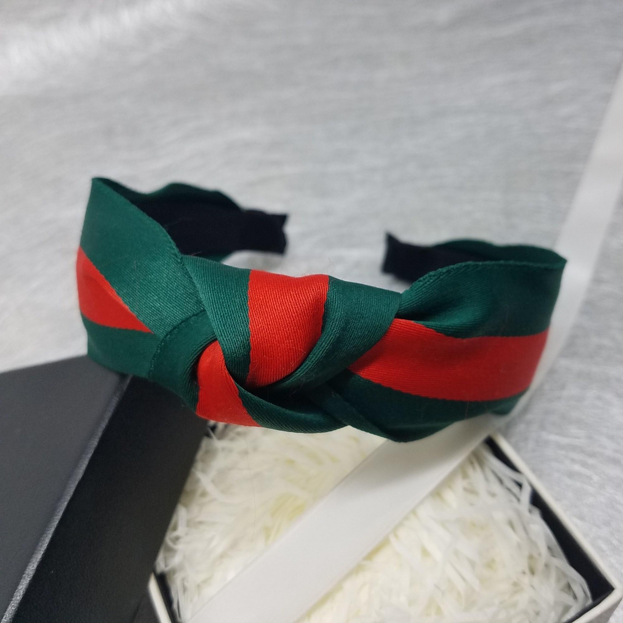 韓國百搭寬邊發卡打結髮箍歐美簡約髮飾紅綠布藝發帶成人頭箍發窟 哈尼 免運可開發票