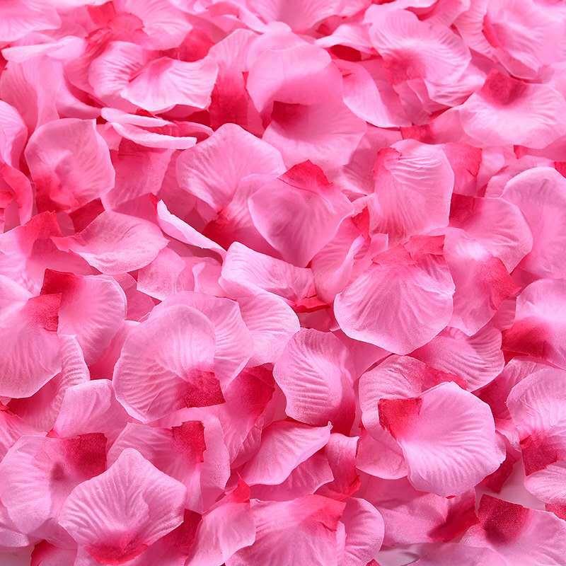 仿真玫瑰花瓣结婚表白装饰手撒花情人节求婚制造浪漫婚房布置用品