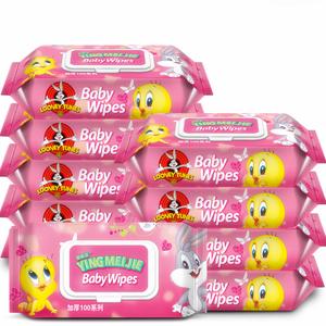 送4小包婴儿湿巾100抽*10包