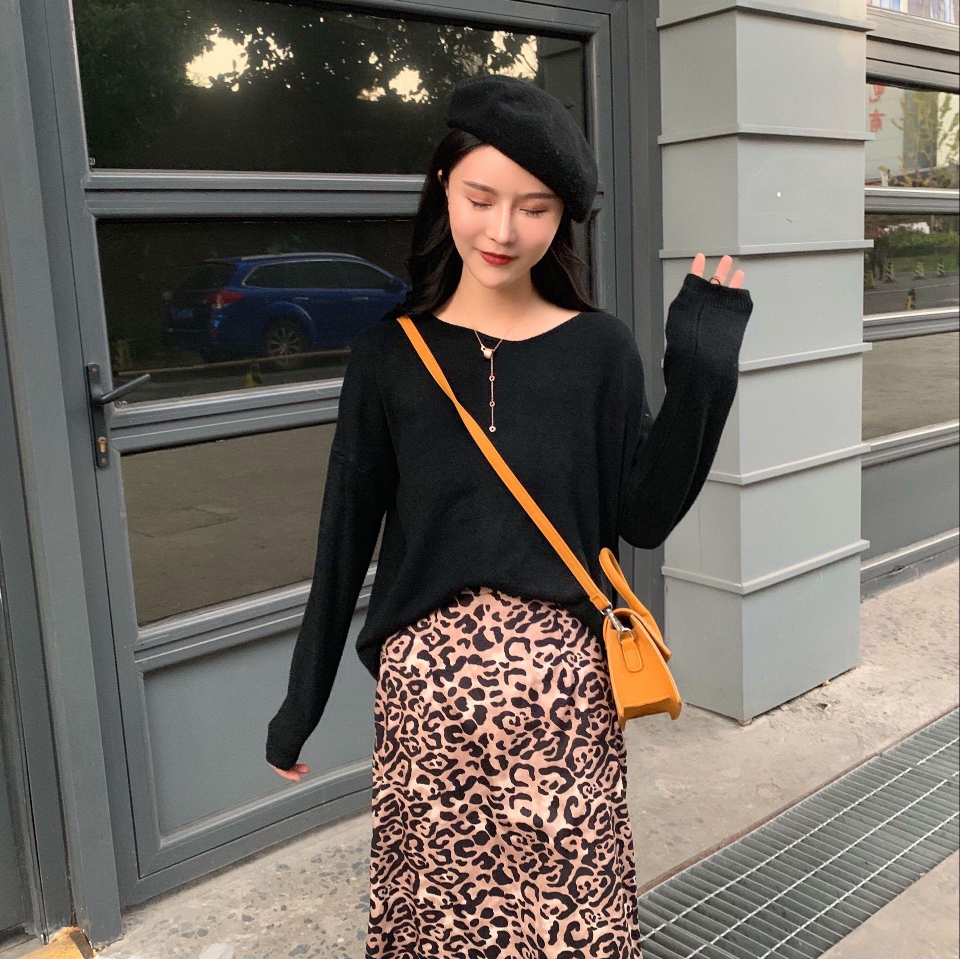 早春显瘦搭配韩版毛衣穿出慵懒范儿