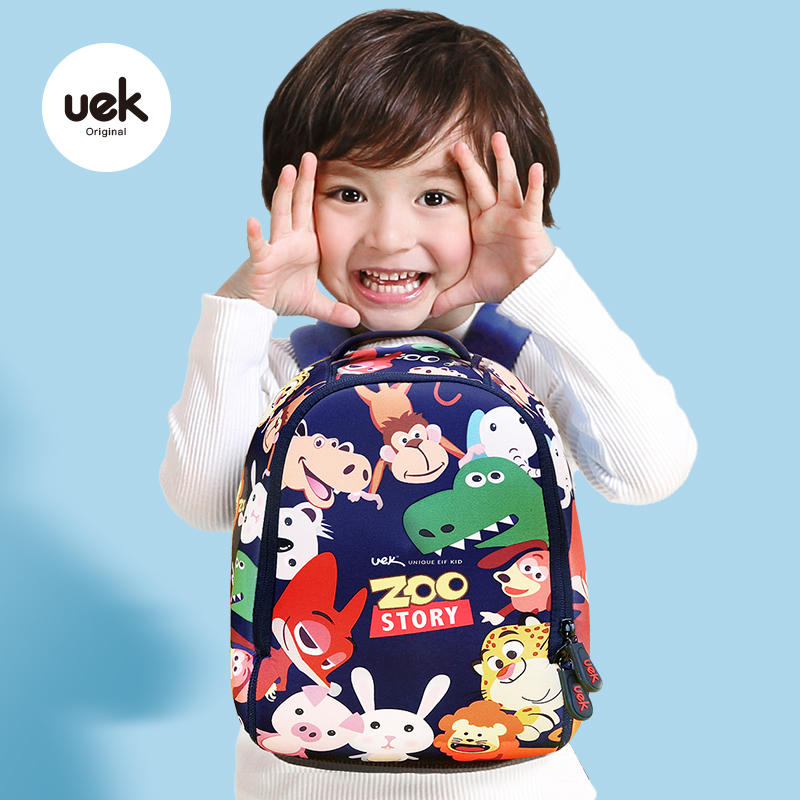 a6815ae51b uek kindergarten school bag boy girl baby 1-3-5-6-year-old cute shoulders children s  backpack tide children s small bag