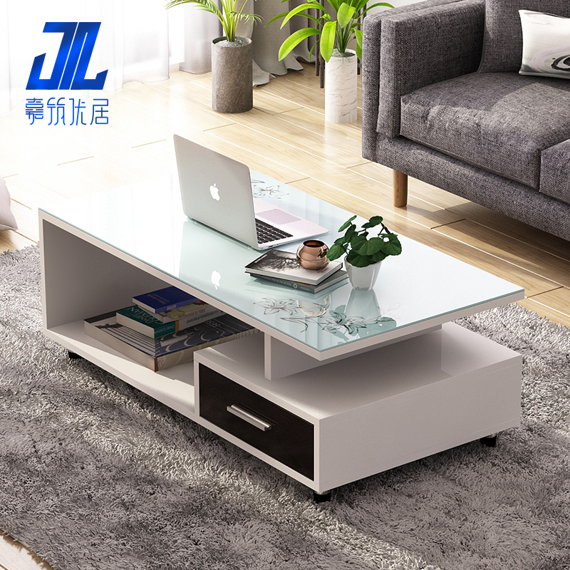 Special Offer Coffee Table Tempered Glass Coffee Table Simple Modern Living  Room Simple Small Apartment Coffee ...
