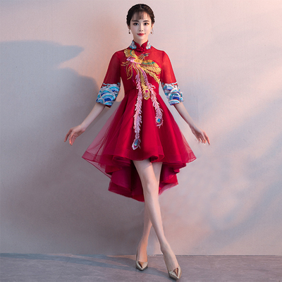 d86be7b63 Show Wo clothes pregnant women toast clothing bride 2019 new spring red  Chinese wedding dress female