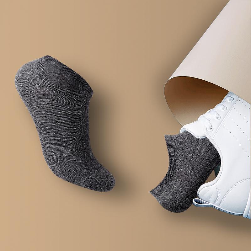 【虾选】5双装男女短袜船袜防臭运动短筒秋季中筒棉袜潮长袜,免费领取10.00元淘宝优惠卷