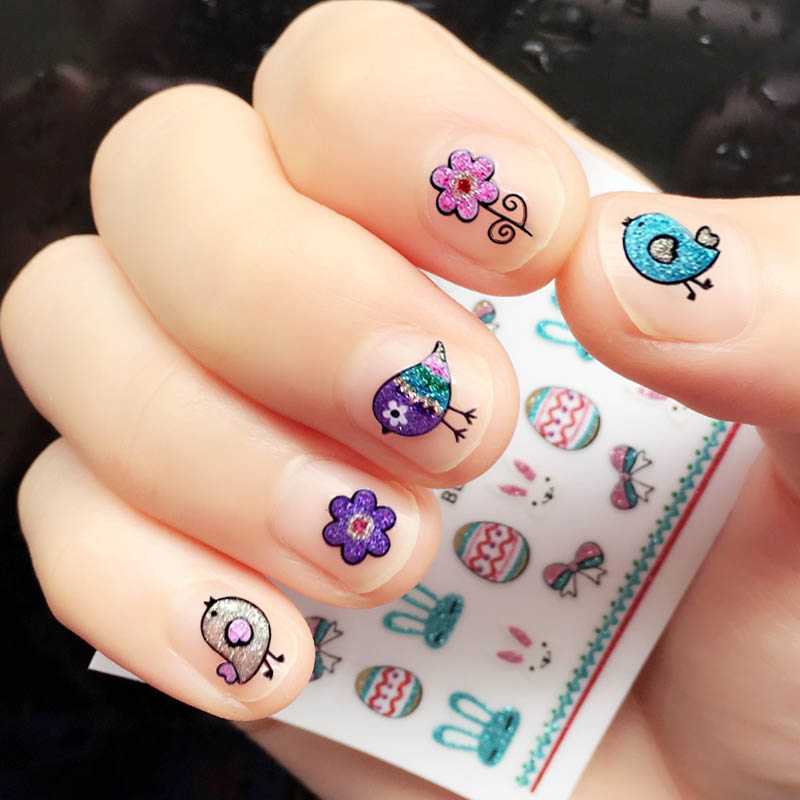 Children\'s Cartoon Nail Stickers Kids Pregnant Women Non-toxic ...