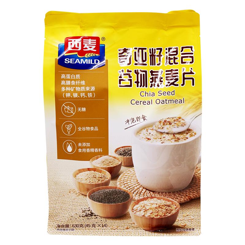 【西麦】超好吃的奇亚籽谷物燕麦片630g