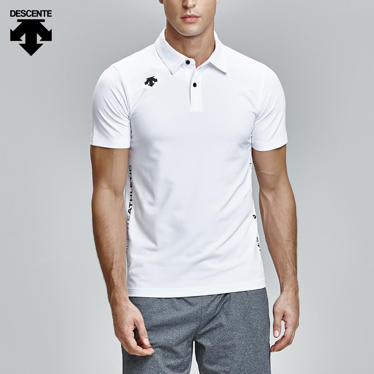 DESCENTE следовать шелковица специальный человек короткий рукав POLO рубашка тонкий сопротивление долго анти деформировать T футболки D7231IPS53