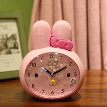 高档懒虫少女心闹钟 ins 粉色音乐小学生叫床时钟清新普通
