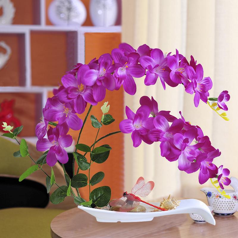 Phalaenopsis mô phỏng chậu hoa xem phù hợp với văn phòng hoa giả phòng khách trong nhà trong nhà trang trí chậu trang trí - Hoa nhân tạo / Cây / Trái cây