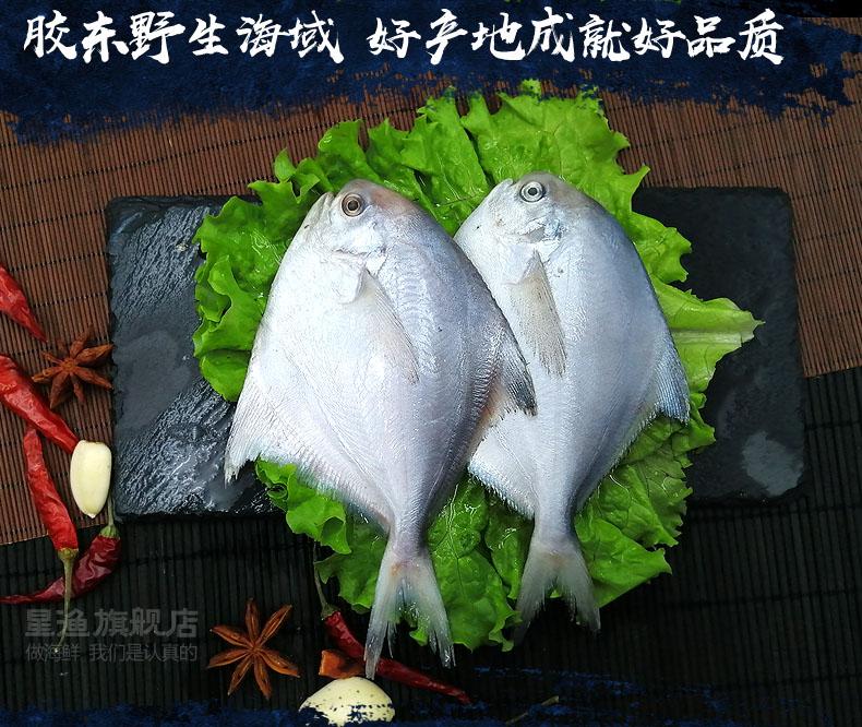 星渔 新鲜海捕鲜冻银鲳鱼 净重400g*3件 双重优惠折后¥39.9顺丰包邮(拍3件)