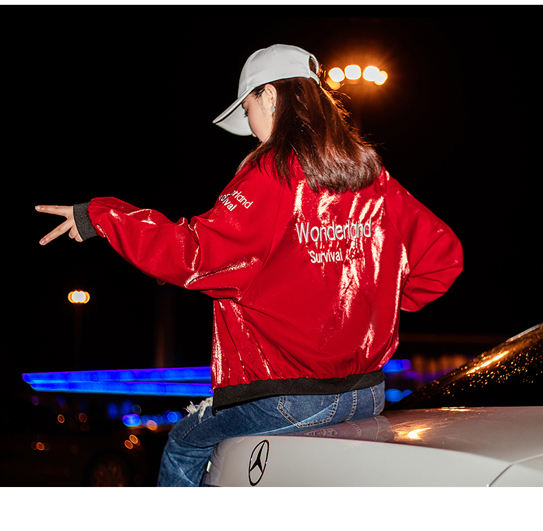 Embroidered jacket women thicken 2020 new autumn and winter Korean version of loose short long-sleeved baseball uniform spring and autumn tide 58 Online shopping Bangladesh