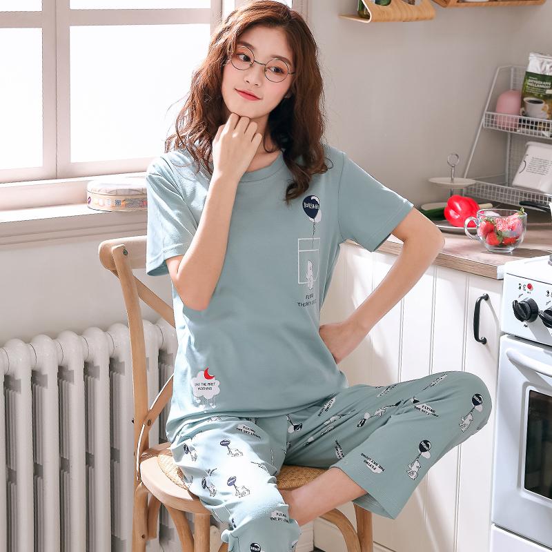 XL L Pinstripe or Cartoon Size Choice M XXL Nightgown Chose Happy Face
