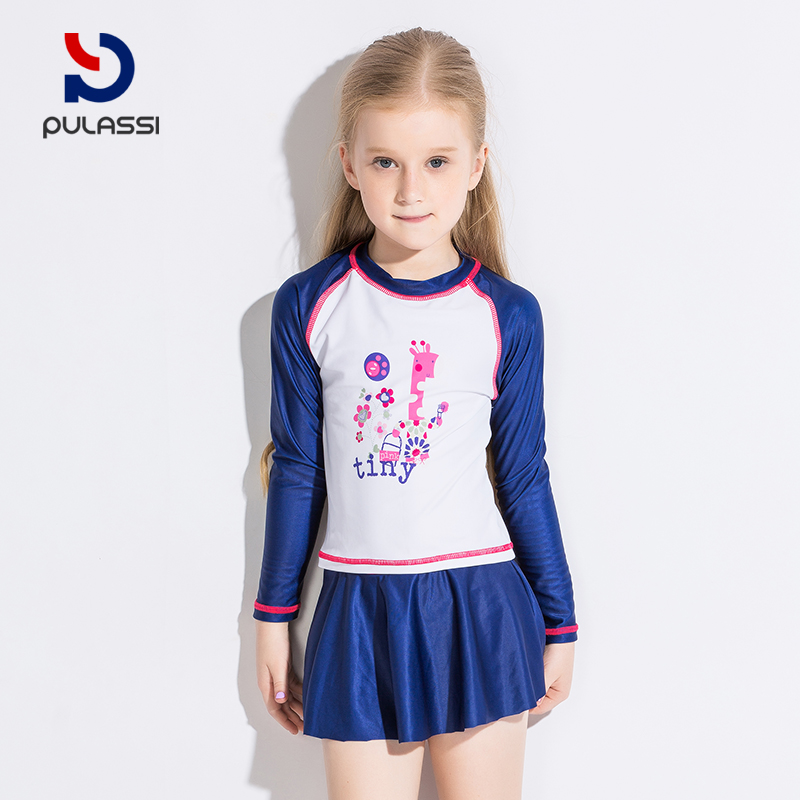 fcc455ade8d5f ... Plasch girl swimsuit in the big boy cute suit Korean little princess  dress split child swimsuit ...