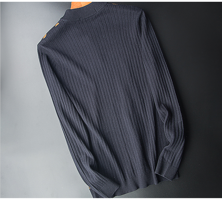 Cows! 100 wool men's winter V collar thick knit sweater business trim fashion skeleton long sleeves 25 Online shopping Bangladesh
