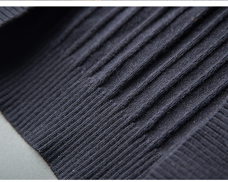Cows! 100 wool men's winter V collar thick knit sweater business trim fashion skeleton long sleeves 32 Online shopping Bangladesh
