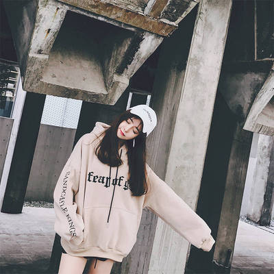 2019秋冬新款韩版超火cec长袖百搭慵懒风ins潮外套学生新款卫衣