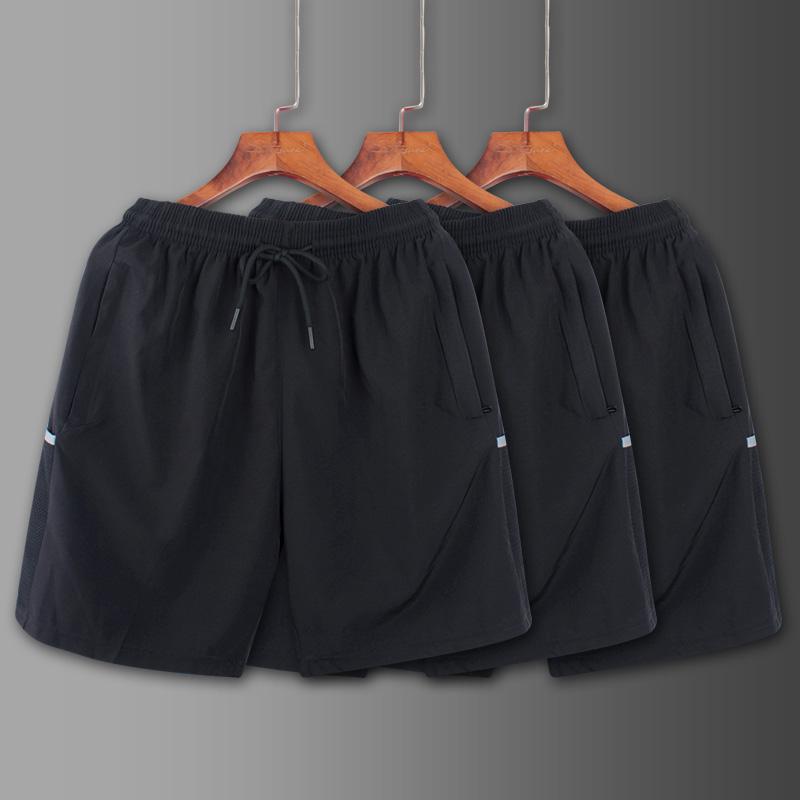 运动篮球男跑步速干夏季薄款冰丝宽松健身女羽毛短裤裤五分休闲裤