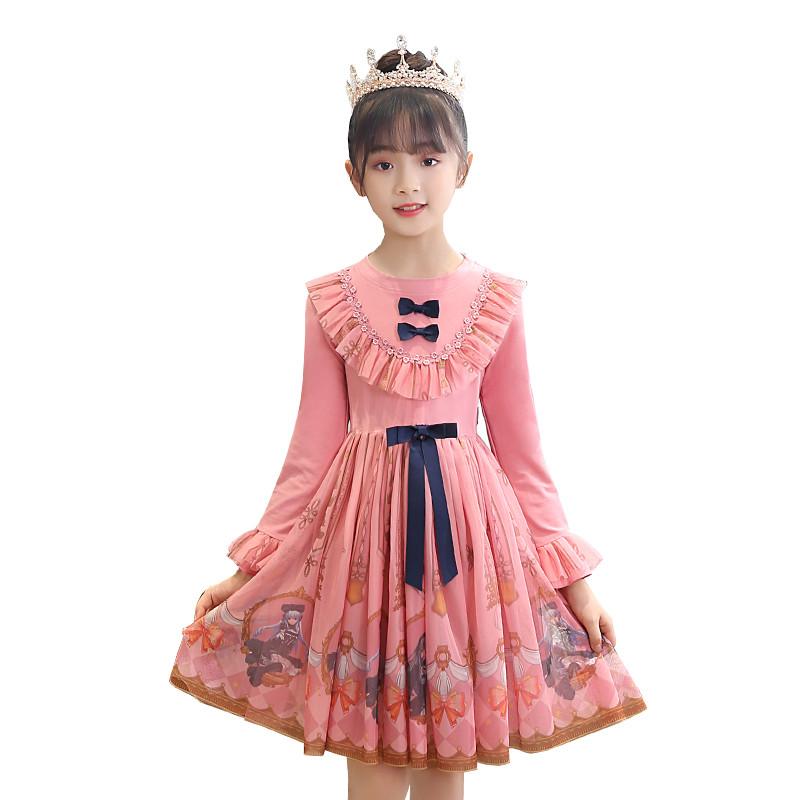女童小学生洛丽塔公主连衣裙