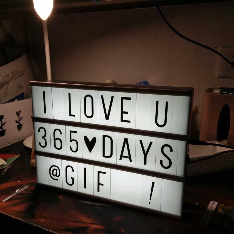 少女房间装饰ins字母灯箱,求婚表白创意礼物