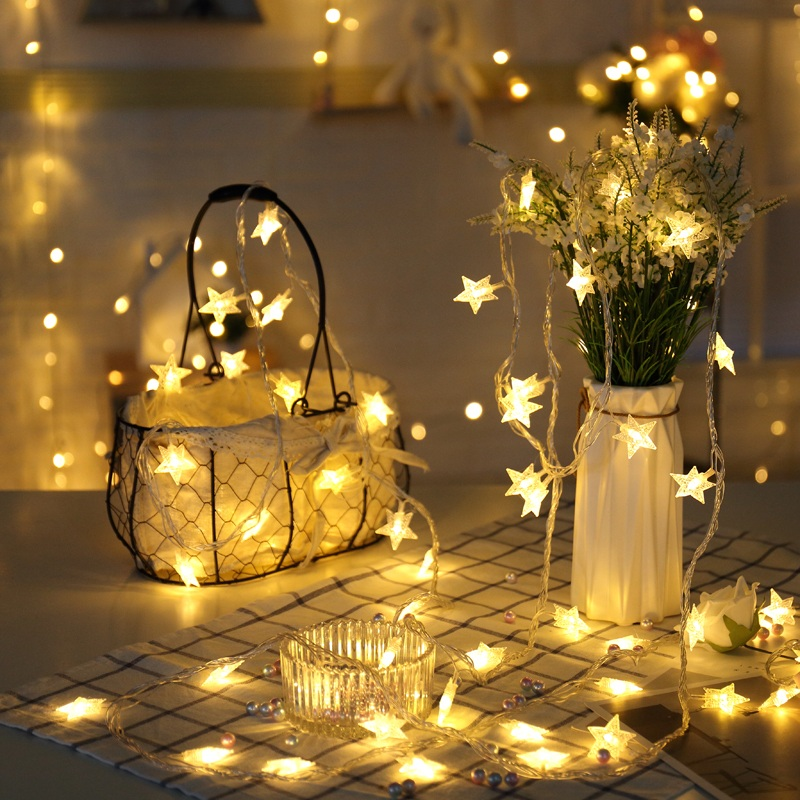 Stars colored lights lighting net red decoration small room transformation ins night lights flashing lights string lights Starlight string