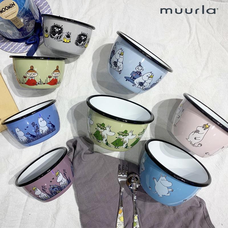 Bắc Âu Phần Lan nhập khẩu muurla men men bát Moomin moomin bộ đồ ăn đơn bát bát cơm bát trẻ em nữ - Đồ ăn tối